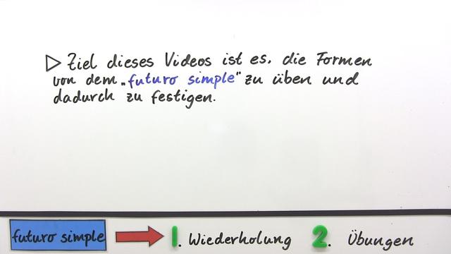 Futuro simple - Übungsvideo