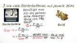 Berechnung der Ladungsbewegung und Stromstärke