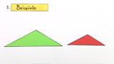 Ähnlichkeitssätze für Dreiecke – Beispiel (1)