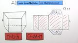 Oberflächeninhalt eines Prismas berechnen
