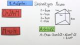 Oberflächeninhalt eines Prismas berechnen – Übung