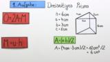 Oberflächeninhalt eines Prismas berechnen - Übung