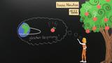 Gravitationsgesetz – fallender Apfel und Planetenbahnen