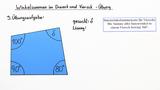 Winkelsummen in Dreiecken und Vierecken – Übung