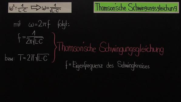 Thomson'sche Schwingungsgleichung – ungedämpfte elektromagnetische Schwingung