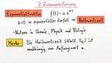 Exponentialfunktionen und Halbwertszeit