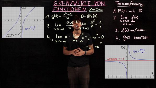 Grenzwerte x gegen unendlich – Termvereinfachung