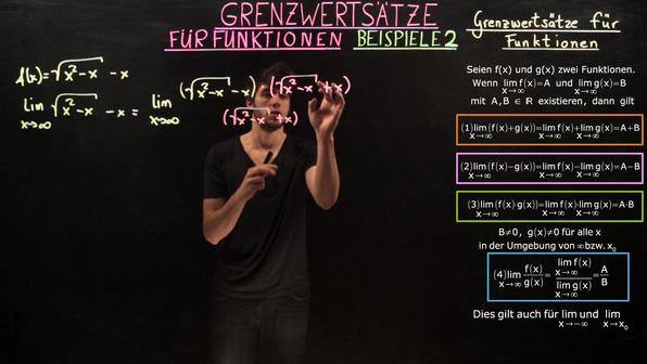 Grenzwertsätze für Funktionen – Beispiele (2)