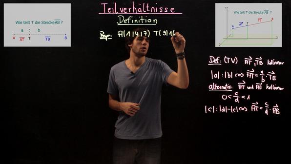 Teilverhältnisse in geometrischen Figuren bestimmen – Beispiel (1)