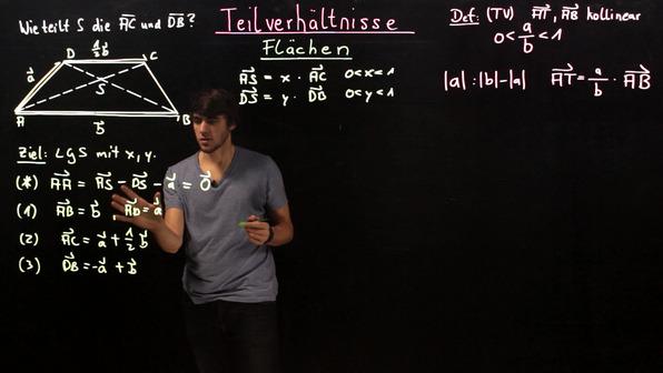 Teilverhältnisse in geometrischen Figuren bestimmen – Beispiel (2)