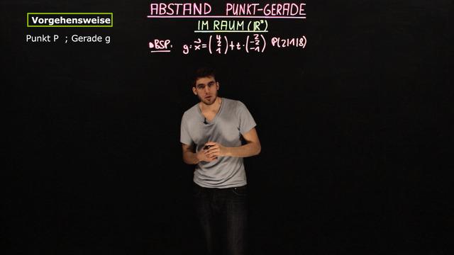 Abstand Punkt-Gerade im Raum (IR³)