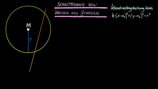 Schnittpunkte von Kreisen und Geraden