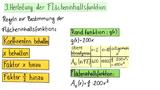 Flächeninhaltsfunktion für linearen Funktionen