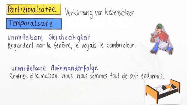 Partizipialsätze im Französischen