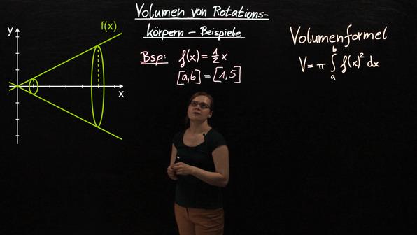 Volumen von Rotationskörpern – Erste Beispiele