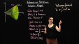 Volumen von Rotationskörpern – Kegelvolumen