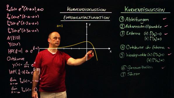 Scharen von Exponentialfunktionen – Kurvendiskussion (2)