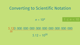 Reading and Writing Scientific Notation