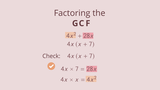 Factoring out the GCF