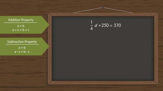Applying Algebraic Properties of Equality