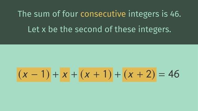 Writing Equations Using Symbols
