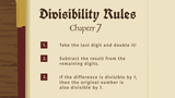 Divisibility Rules - 7