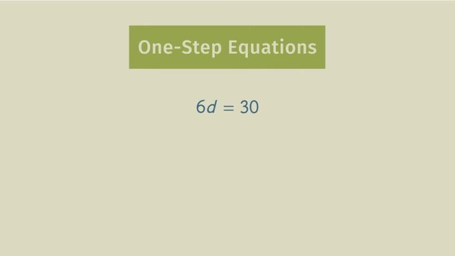 One-Step Equations with Multiplication and Division