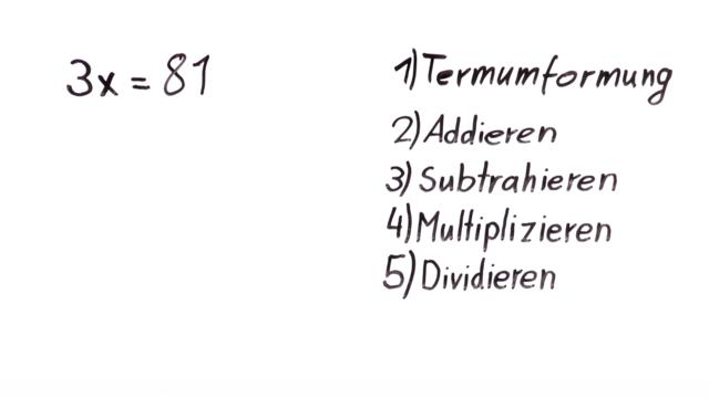 Äquivalenzumformungen - einfache Gleichungen 3