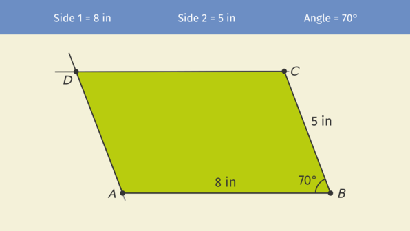 Constructing Parallelograms with a Set Square