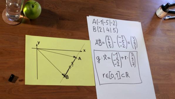 Strecke vektoriell angeben