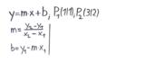 Lineare Funktionen aus zwei Punkten bestimmen - Formeln