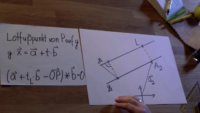 Abstandsbestimmung paralleler Geraden -Erklärung