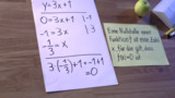 Lineare Funktionen – Nullstellen berechnen 1