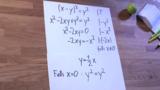 Funktionsgleichungen – implizite Funktionen – (x-y)²=y²