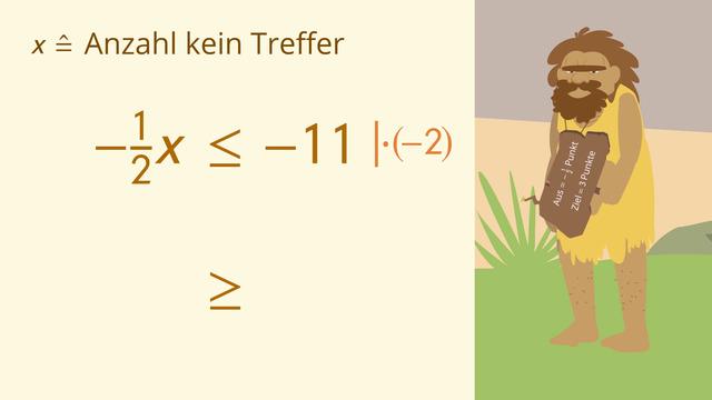 Ungleichungen mit Multiplikation und Division lösen