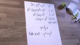 Funktionsgleichungen - implizite Funktionen - (x-y)²=y²