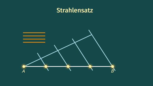 Strecken in gleiche Teile teilen