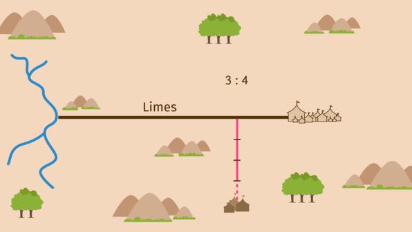 Strecken in Verhältnisse teilen – äußere Teilung