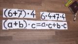 Klammern auflösen - Distributivgesetz - Beispiel 1
