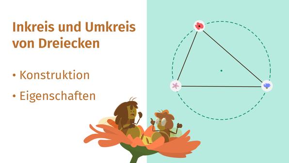 Inkreis und Umkreis von Dreiecken – Überblick