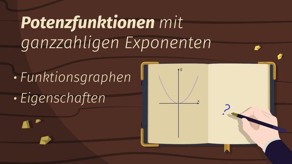 Potenzfunktionen mit ganzzahligen Exponenten – Überblick
