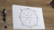 Konstruktion eines in einen Kreis einbeschriebenen Achtecks