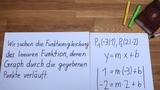 Geradengleichung aus zwei Punkten bestimmen - Gleichungssystem aufstellen