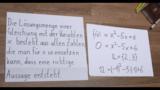 Nullstellen quadratischer Funktionen - Begriffe