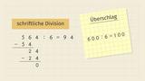 Schriftliche Division durch einstellige Zahlen