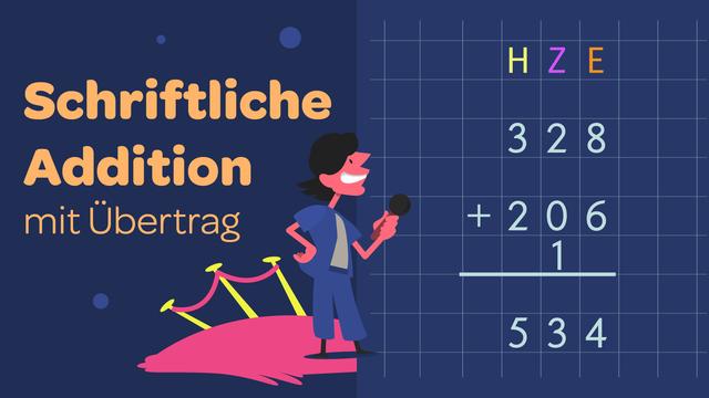 Schriftliche Addition – mit Übertrag
