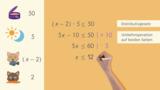 Ungleichungen in zwei Schritten lösen