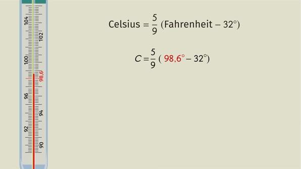 Temperaturangaben umrechnen – Celsius und Fahrenheit