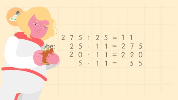Schriftliche Division durch mehrstellige Zahlen