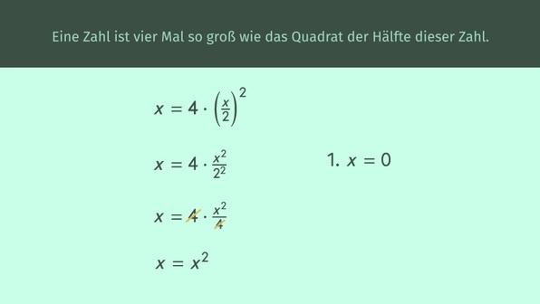 Textaufgaben in Gleichungen übersetzen